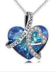 cheap -Women's Necklace Precious European Chrome Blue 45 cm Necklace Jewelry 1pc For Gift Beach
