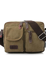cheap -Men's Bags Canvas Shoulder Messenger Bag Crossbody Bag Vintage Daily Canvas Bag MessengerBag Black Khaki Green Coffee