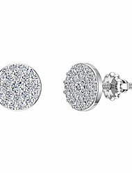 cheap -14k diamond earrings round brilliant pave cluster studs white gold (0.50 ctw) carat total weight (i,i1)