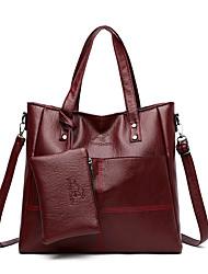 cheap -Women's Bags Bag Set Top Handle Bag Date Office & Career Bag Sets Handbags Wine Black Blue