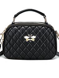 cheap -Women's Bags PU Leather Crossbody Bag Glitter Plain Daily Bag Sets Handbags MessengerBag White Black Red Blushing Pink