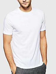 preiswerte -Unterhemden mit Rundhalsausschnitt - atmungsaktiv und leicht - ohne Etikett (xx-groß, weiß)