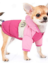 cheap -winter dog hoodie coat waterproof down jacket puppy cat windproof cold weather coat pet clothes