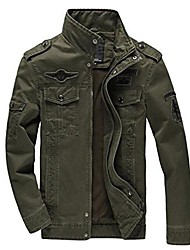 cheap -men jacket jean military plus 6xl army soldier cotton air force one male jackets 8331 8331 army green m