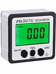 cheap -angle finder bevel gauge digital inclinometer backlight lcd level box 0-360° with magnetic based waterproof for miter saw, automobile test, repair