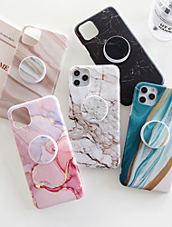 cheap -Marble Holder Case For Apple iPhone 12 Pro Max 11 SE2020 iPhone 12Mini Fashion Protective Case Decent Mobile Phone Case Ultra-thin  Pattern Back Cover Geometric iPhone Case Pattern Marble TPU