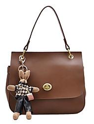 cheap -Women's Bags PU Leather Crossbody Bag Buttons Chain Bag Shopping Daily Dark Brown Black Khaki Brown