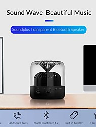 cheap -Mini Transparent Bluetooth 4.2 Speaker Portable Wireless Speaker Sound System 3D Stereo Support TF AUX Microphone Speaker