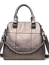 cheap -Women's Bags PU Leather Leather Satchel Top Handle Bag Zipper Daily Outdoor Handbags Baguette Bag Wine Black Blue Purple