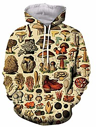 cheap -popular mushroom collage hoodies unisex 3d print most streetwear 2 5xl
