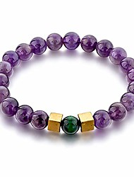 cheap -8mm chakra protection & healing beaded bracelets for men and women (s, amethyst)