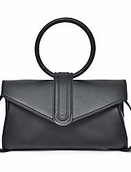 cheap -women candy colored clutches circular ring handbag evening bags shoulder diagonal shoulder wallets bag (black)
