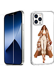 cheap -Characters Fashion Case For iPhone 12 iPhone 11 iPhone 12 Pro Max Unique Design Protective Case with Screen Protector Shockproof Back Cover TPU