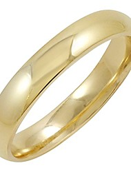 cheap -men's 10k yellow gold 4mm comfort fit plain wedding band (available ring sizes 8-12 1/2) size 9