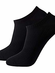 cheap -men's 2-pack black anti odor sweat wicking quick dry casual no show sports socks
