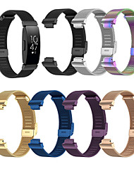 cheap -Smart Watch Band for Fitbit 1 pcs Sport Band Stainless Steel Replacement  Wrist Strap for Fitbit Ace 2 Fitbit Inspire HR Fitbit Inspire