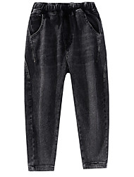 cheap -Kids Boys' Basic Solid Colored Jeans Black
