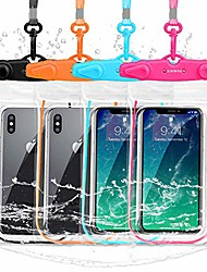 "cheap -universal waterproof case, ipx8 cell phone dry bag/pouch compatible for iphone 11 pro xs max xr x 8 7 galaxy s10 lg up to 6.9"", protective pouch for pool beach kayaking travel bath (4-pack)"