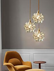 cheap -20cm LED Pendant Light Modern Nordic Flower Single Design Glass Bedside Light Dining Room Bar Shop Living Room Electroplated 110-120V 220-240V