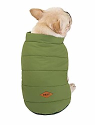 cheap -pet cat dog clothes fleece lined dog jackets for winter dog cold weather coats dog apparel pet coats warm soft windproof small dog coat pet vest costume (xxl, green)