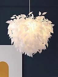 cheap -60cm LED Pendant Light Dimmable Nordic Leaf Desgin Chandelier Living Room Bedroom Metal Painted Finishes 110-120V 220-240V
