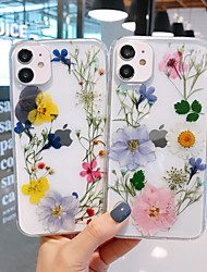 cheap -Case For iPhone 12 / iPhone 12 Mini / iPhone 12 Pro Max Pattern Back Cover Transparent / Flower TPU