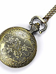 cheap -pocket watch personality flip pocket watch creative unique woman pattern engraving retro pocket watch perfect special occasion gift (color, size : free size)
