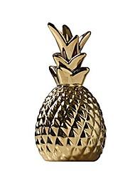 cheap -ceramic pineapple statue,decorative 7.1in showpiece decor for home,gift,office(golden)