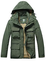 cheap -jacket men thick fleece warm coat male hooded jackets and coats pockets windbreaker army green