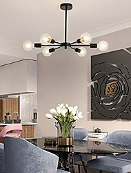 cheap -7/8 Heads LED Pendant Light Modern Nordic Chandelier Sputnik Design Living Room Bedroom Metal Painted Finishes Artistic Modern 110-120V 220-240V