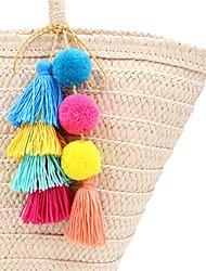 cheap -colorful tassel bag charm for women,layered tassel keychain keyring purse handbag decor pendant (5)