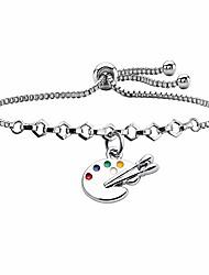 cheap -artist paint brush earrings paint palette charm earrings colorful painter jewelry artist gift art teacher gifts (paint bracelet)