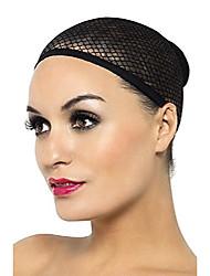 cheap -women's mesh wig cap, black, 6 pack