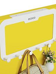 cheap -Door Hook Organizer Rack, Clothes Hanger, Coat Hook, Use in Bathroom and Bedroom, 6 Hooks, White - 1pc