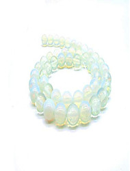 cheap -bracelet natural jewelry stone agate smooth loose beads energy stone suitable for jewelry stone bracelet necklace earrings diy 8mm (opal)