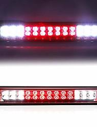 cheap -3rd third brake light for 1988-1999 chevy/gmc c1500 c2500 k1500 k2500 silverado blazer led cargo lamp high mount stop light (chrome housing red lens)