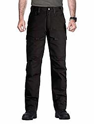 cheap -outdoor men teflon scratch-resistant pants four seasons hiking climbing tactical trousers (black, 44w x 31l)