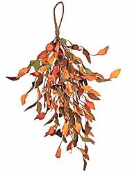 cheap -60cm 23inch fall pumpkin harvest door swag wreath diy for front door lamp ear wall decor autumn halloween thanksgiving day