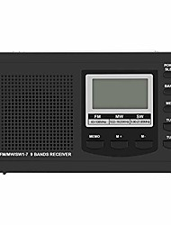 cheap -portable mini fm radio speaker,  fm/mw/sw portable digital alarm clock radio with mp3 player and sleep timer (black)