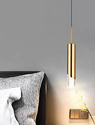 cheap -6cm LED Pendant Light Modern Nordic Bedside Light Gold Tricolor Light Dining Room Bar Metal Electroplated Christmas Decoration 110-120V 220-240V