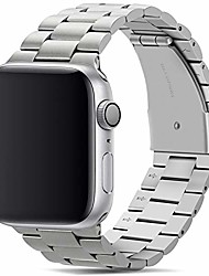 cheap -band compatible with apple watch band 44mm 42mm premium stainless steel metal replacement strap compatible with apple watch series 6 5 4 3 2 1, se (silver)