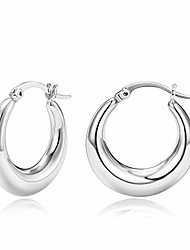 cheap -small chunky gold hoop earrings for women dainty 14k white gold plated stainless steel thick hoop earrings jewelry gift
