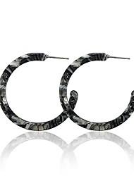cheap -pomina lightweight marble acrylic resin hoop earrings tortoise shell hoop earrings for women girls teens (grey)