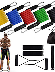 cheap -Resistance Band Set Suspension Trainer Basic Kit 11 pcs Resistance Bands 5 Stackable Exercise Bands Door Anchor Sports Latex Home Workout Gym Workout Exercise & Fitness Adjustable Non Toxic Stretchy