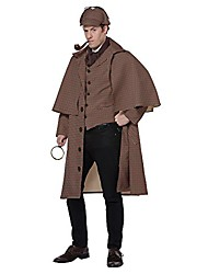 cheap -men's english detective/sherlock holmes costume, tan/brown, medium