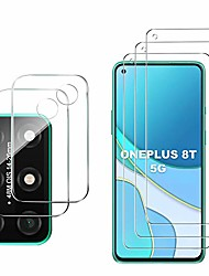 cheap -for oneplus 8t 5g screen protector and camera protector, [3 screen protectors+2 camera protectors][touch sensitive] tempered glass screen protector for oneplus 8t 5g(clear)