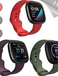 cheap -mocodi sense bands compatible with fitbit sense & fitbit versa 3, 3-pack soft tpu sport strap replacement wristband accessories women men for fitbit sense & pour 3 smartwatches