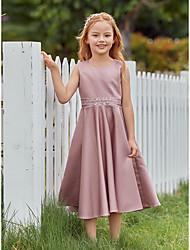 cheap -Kids Little Girls' Dress Solid Colored Dusty Rose Midi Sleeveless Cute Sweet Dresses Loose