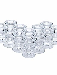 cheap -set of 12 glass taper candle holders 2.5 inches high ideal gift for weddings party favor reiki meditation o3