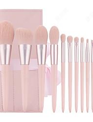 cheap -New 11 Pieces Makeup Brush Set Super Soft Pink Girl Heart Brush Hair Beauty Tool Set Combination